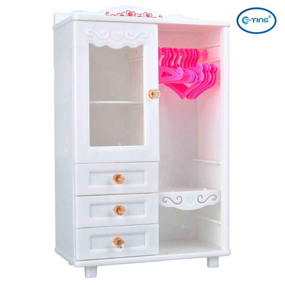barbie doll house furniture. E-TING Dollhouse Furniture Wardrobe Closet For Barbie Doll Clothes Accessories - House