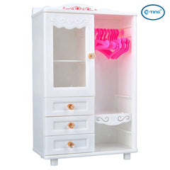 E-TING Dollhouse Furniture Wardrobe Closet for Barbie Doll Clothes Accessories - E-TING