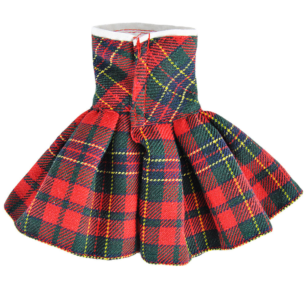E TING Claus Couture Clothing For Elf On The Shelf Red Green Plaid