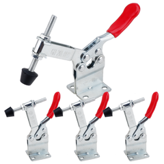 E-TING 4Pcs 198LBS Hand Tool 201-BHB Toggle Clamp Horizontal Clamp Antislip 201B-Upgrade Quick Release Tool (Heightened Clamp)