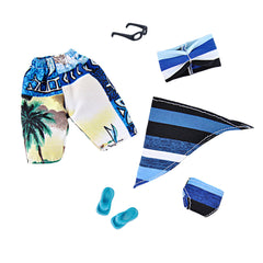 E-TING 2 Sets Doll Accessories Bikini Swimsuit Bathing Suit Swimming Shorts for Girl Boy Dolls Dolls (Dark Blue) - E-TING