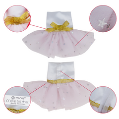 E-TING Santa Couture Clothing for Elf Doll(Light Pink Tulle Dress)