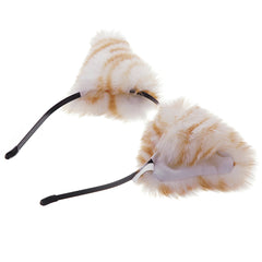 E-TING Cat Fox Long Fur Ears Anime Cosplay Headband Hairband Halloween Cosplay Party Costume