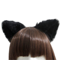 E-TING  Cat Fox Long Fur Ears Anime Cosplay Headband Halloween Cosplay Party Costume - E-TING