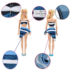 E-TING Handmade 5 Sets Sexy Bikini Set Bra Swimsuit Swimwear Beachwear Bathing Suit For Barbie Dolls - E-TING
