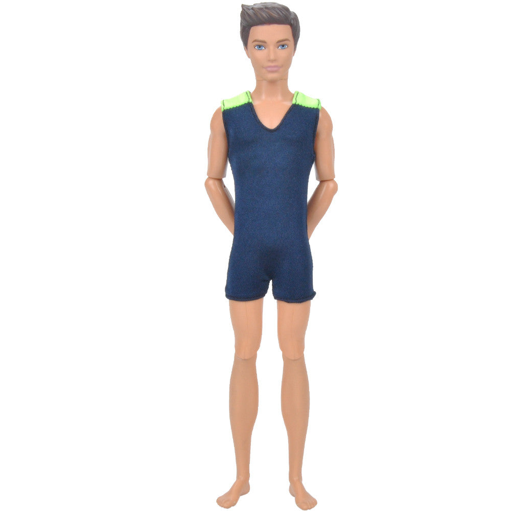 4dcd059c37 E-TING Cool Beach Swimsuit Bathing Doll Clothes One-piece Swimwear for  Barbie Ken