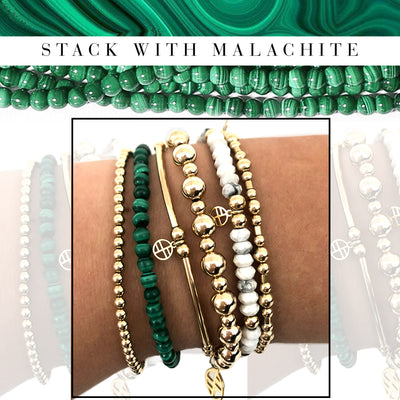 Green with Envy - Stack with Malachite