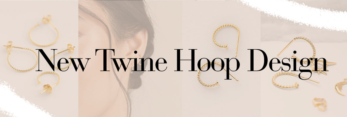 Images of new twine hoop designs which are small twisted hoop earrings