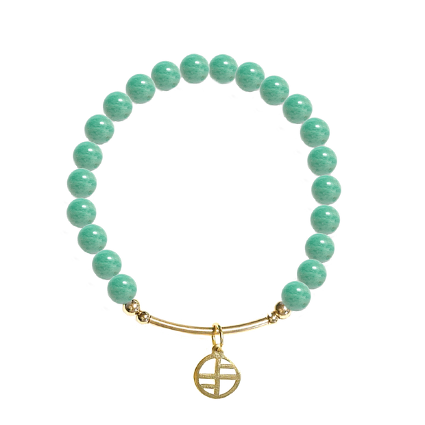 African Amazonite - gold