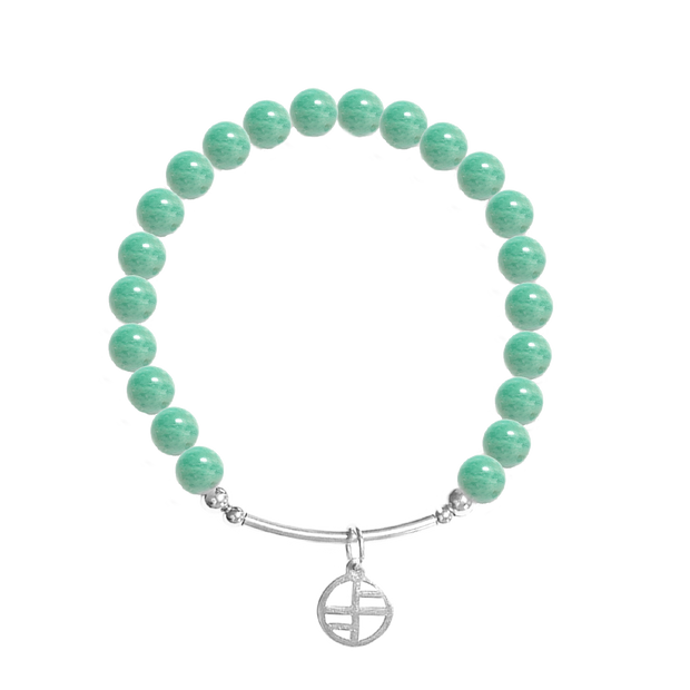African Amazonite - silver