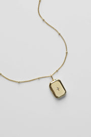 Bevel Locket Necklace