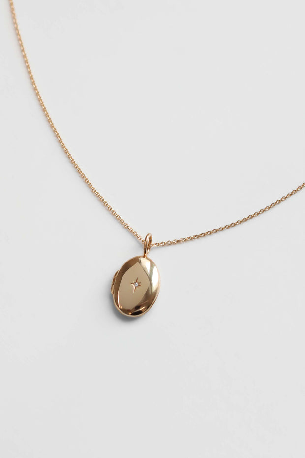 Oval Locket Necklace