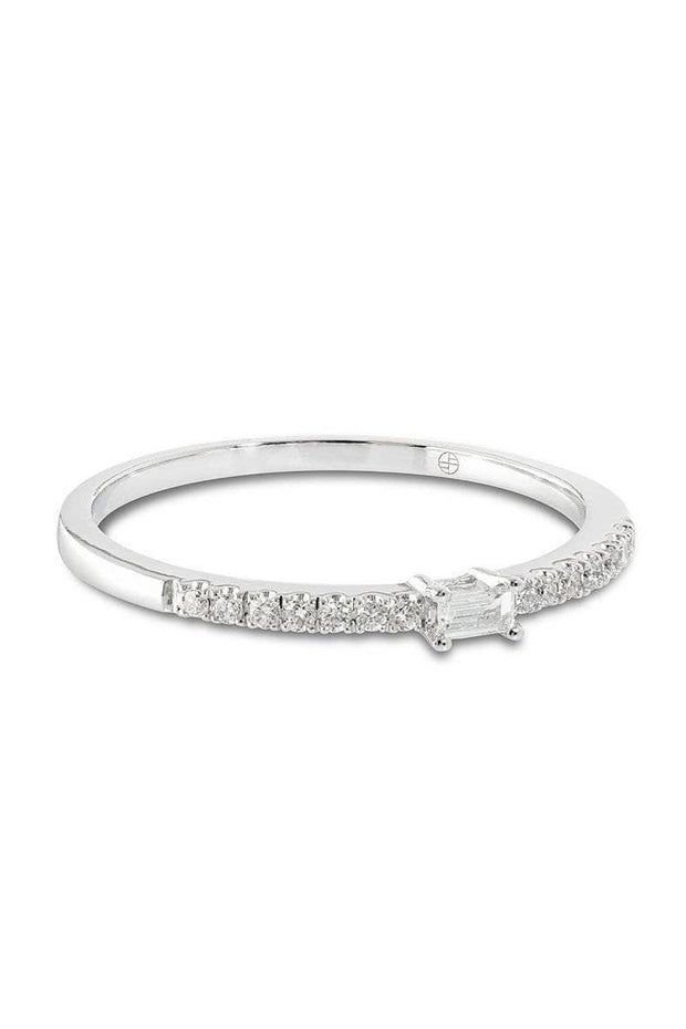 Adore Diamond Ring - Solid White Gold