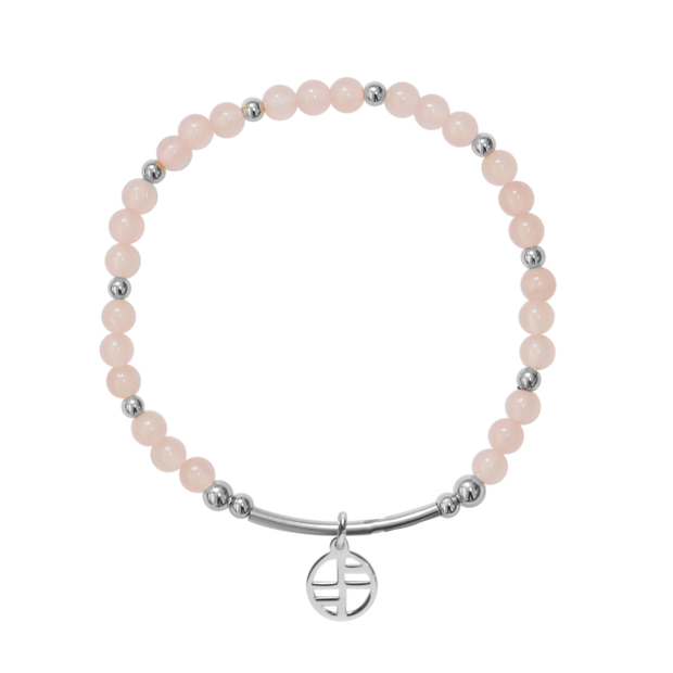 Rose Quartz Allure - silver