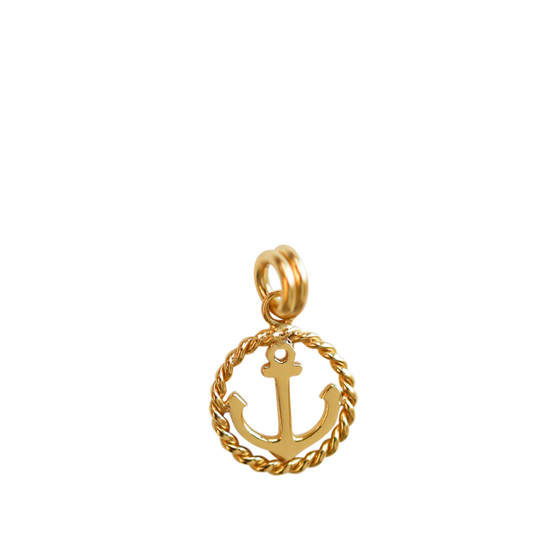 Anchor Charm - gold