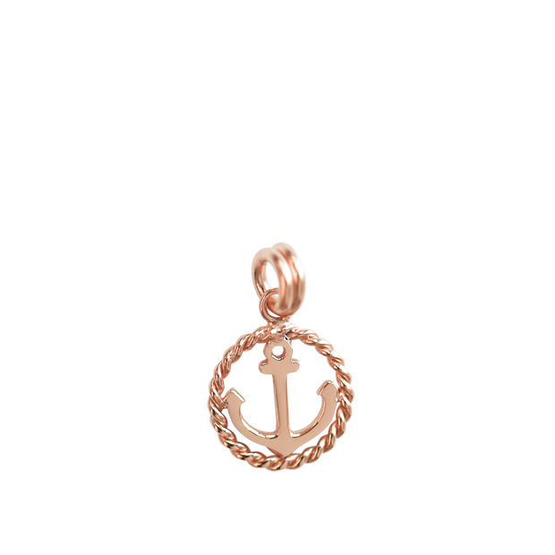 Anchor Charm - rose