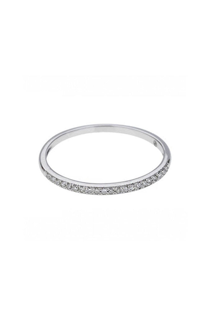 Blanc Diamond Ring - Solid White Gold