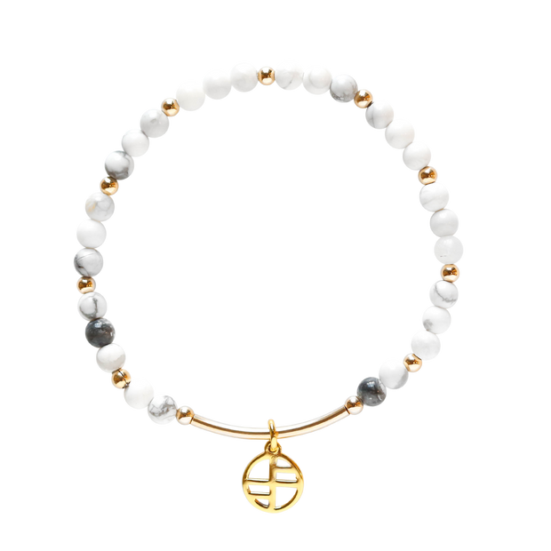 Howlite Allure - gold