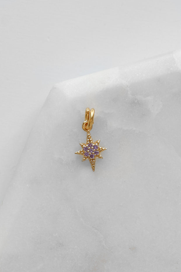 Star Birthstone Charm