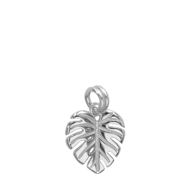 Monstera Charm - silver