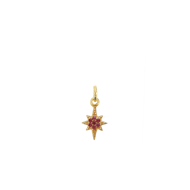 October Star Charm - gold