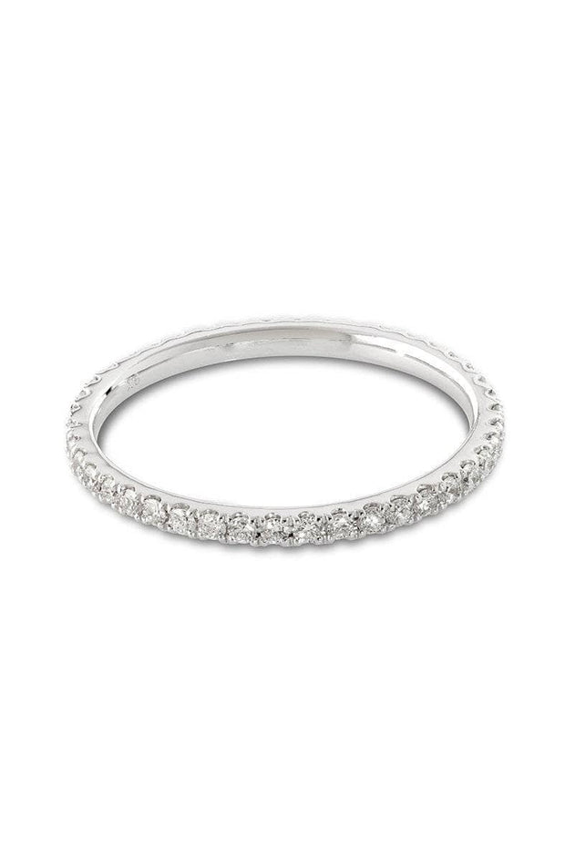 Pier Diamond Ring - Solid White Gold