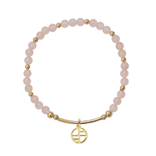 Rose Quartz Allure - gold