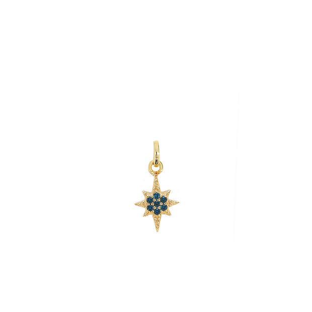 September Star Charm - gold