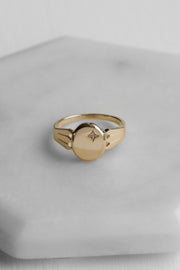 Signet Diamond Ring