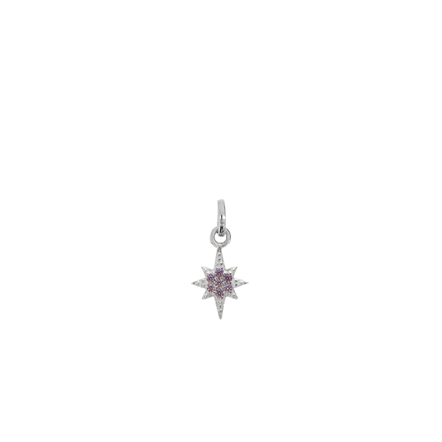 June Star Charm - silver