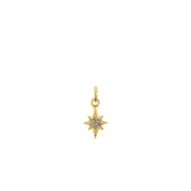 March Star Charm - gold