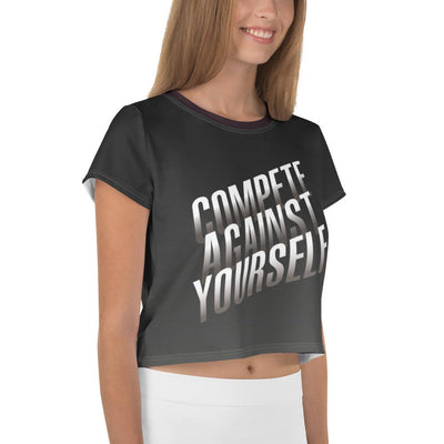 Crop Tee - Compete Against Yourself Crop Tee