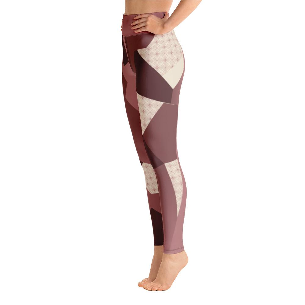 Leggings - Angular Camo  Blush Yoga Leggings