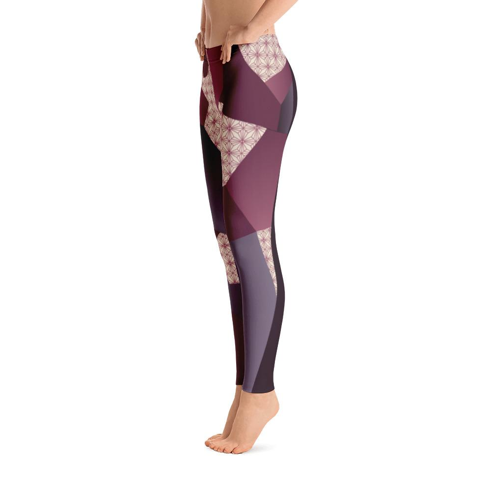 Leggings - Angular Geo Camo Purple Leggings