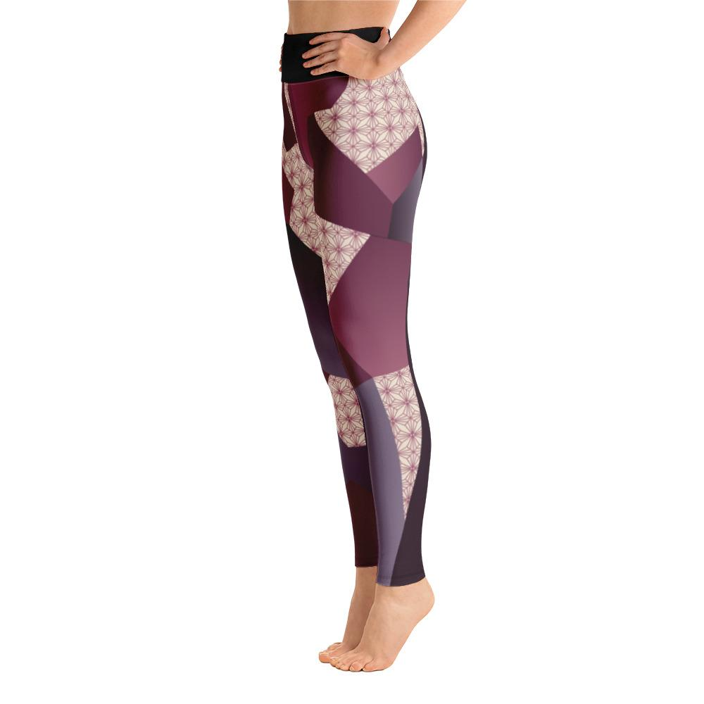 Leggings - Angular Geo Camo Purple Yoga Leggings