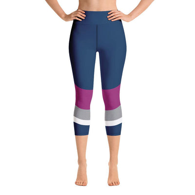 Leggings - Azure Yoga Capri Leggings