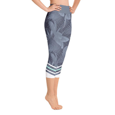 Leggings - Palmetto Grey Yoga Capri Leggings