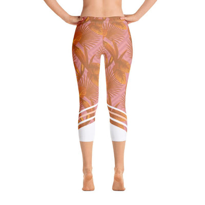 Leggings - Palmetto Peach Capri Leggings
