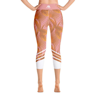 Leggings - Palmetto Peach Yoga Capri Leggings