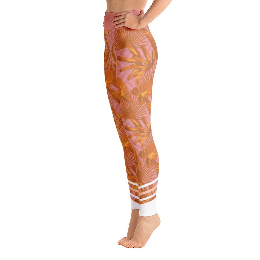 Leggings - Palmetto Peach Yoga Leggings