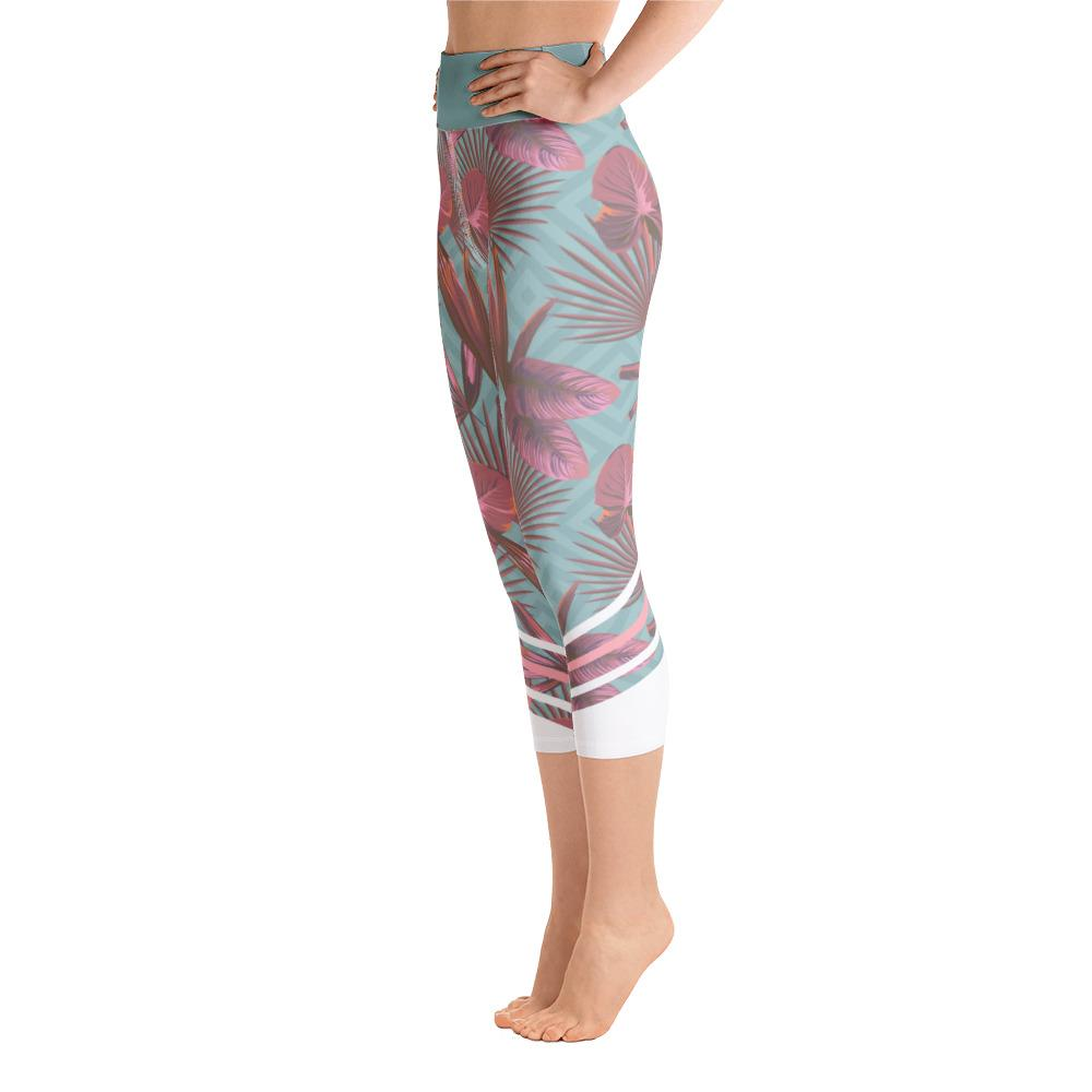 Leggings - Palmetto Teal Yoga Capri Leggings