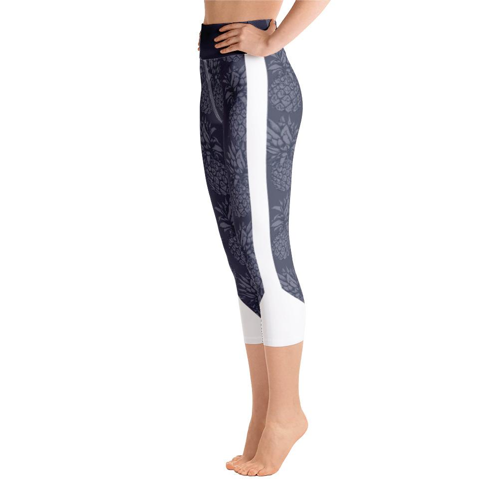 Leggings - Pineapple Punch Grey Yoga Capri Leggings