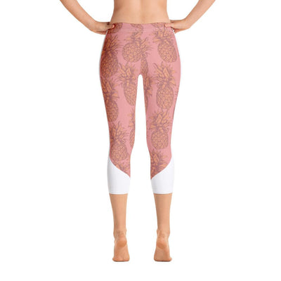 Leggings - Pineapple Punch Peach Capri Leggings