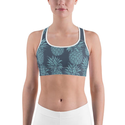 Sports Bra - Pineapple Punch Teal Sports Bra