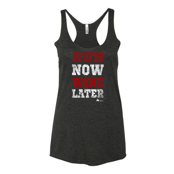 AmrapPro Run Now Wine Later Tank Premium Black