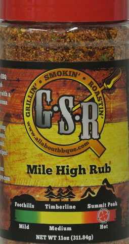 GSR Summit Peak (hot) BBQue seasoning rub
