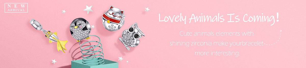 925 Sterling Silver Lovely Animal Cute Beads and Charms