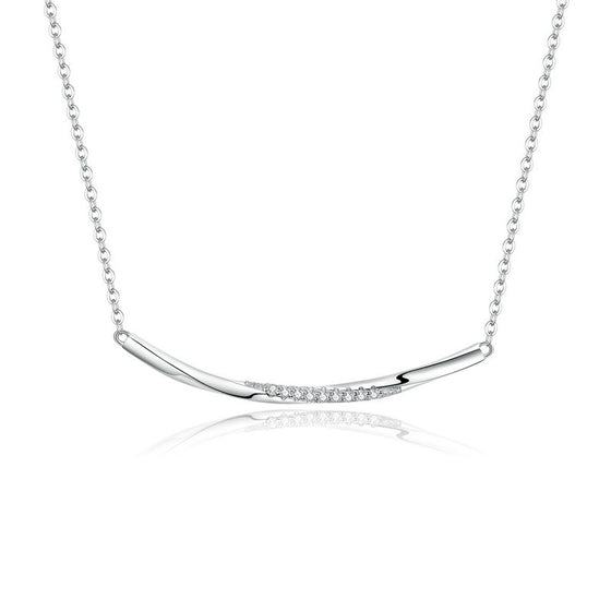 bamoer Clear Wave CZ Choker Necklace BSN130