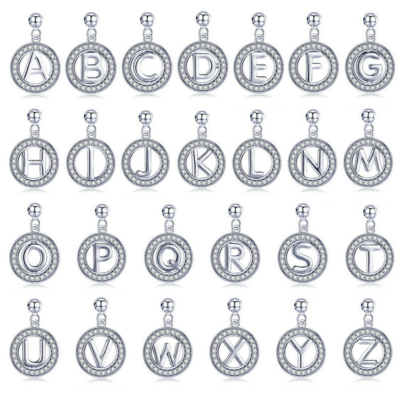 BAMOER LETTER PENDANTS A-Z FASHION DIY JEWELRY BSP001