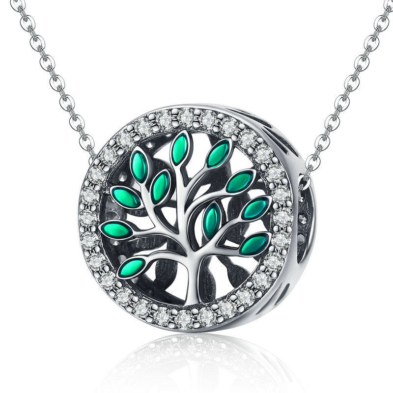 BAMOER BEAUTIFUL LIFE TREE PENDANT 925 SILVER BEADED JEWELRY SCC1095 | BAMOER